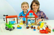Lego-Ferma-s-zhivotnymi-dlya-detej-i-Danik-s-mamoj-Razvivayushhee-video-dlya-samyh-malenkih-detej