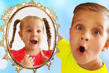 Magic-Mirror-grants-wishes-of-Diana-and-Roma-Kids-pretend-play-video