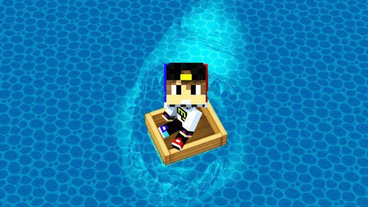 NUB-I-PRO-PROTIV-AKULY-100-TROLLING-NEVIDIMKOJ-Majnkraft-Vyzhivanie-kak-vyzhit-video-Minecraft