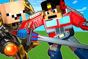 Transformery-roboty-spasateli-Majnkraft-Video-Nub-i-Pro-Robot-Nubik-Obzor-na-mody-mod-Minecraft-PE