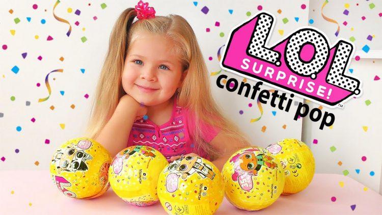 Diana-i-Novyj-LOL-Surprise-Confetti-POP-CHto-umeyut-Novye-Kukly-LOL-Syurpriz
