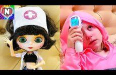 IGRAEM-V-DOKTORA-NASTYUSHIK-V-BOLNITSE-DOKTOR-BLAJZ-Bolnitsa-Nastya-zabolela-Doctor-Blythe-Helps-Baby