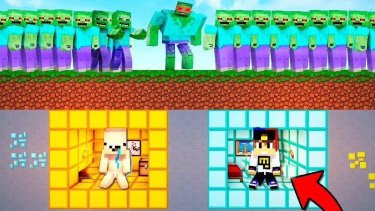 NUB-I-PRO-PROTIV-ZOMBI-100-TROLLING-NEVIDIMKOJ-Majnkraft-Vyzhivanie-kak-vyzhit-video-Minecraft