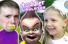 Simulyator-VREDNOGO-MALYSHA-Papa-i-Milana-igrayut-v-Toddler-Simulator-na-FFGTV-DAVNO-MY-TAK-NE-SMEYALIS