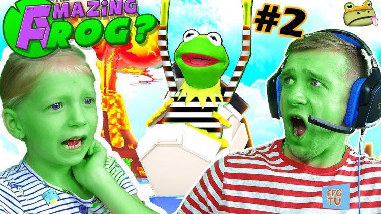 VESELAYA-LYAGUSHKA-PERDUSHKA-2-Priklyuchenie-v-Gorode-v-igre-Amazing-Frog-Igrovoj-Letsplej-ot-papy-FFGTV