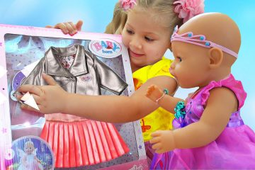 Diana-kak-MAMA-i-novaya-Odezhda-dlya-kukly-Bebi-Bon-Diana-playing-with-Baby-Born-Doll-Videos-for-kids