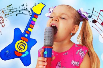 Diana-and-Papa-Pretend-Play-with-Musical-Instruments-Toys-for-Kids