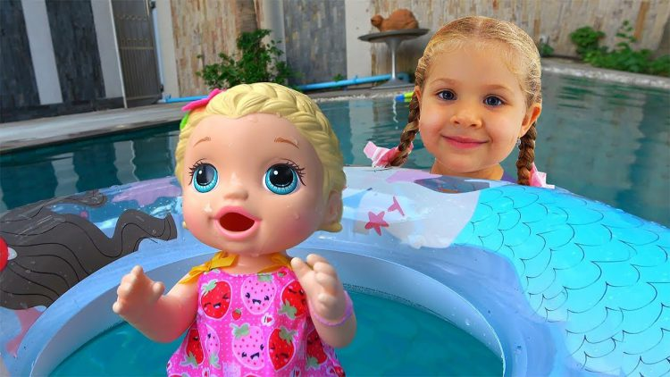 My-super-fun-day-with-Baby-Doll-Roma-and-Diana-pretend-play-with-toys-for-girls