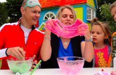 Tri-TSVETA-lizun-chellendzh-RODITELI-vse-smogut...-3-colors-SLIME-challenge-PARENTS-edition