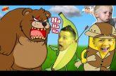 Milana-Danya-i-PUTESHESTVIE-BANANA-OGROMNYJ-Medved-v-igre-Banatoon-Pobeg-FFGTV-ot-zlyh-Geroev