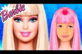 Barbie-Doll-Katya-i-kosmetika-Pretend-play-Cleaning-with-puppy-and-build-playhouse-for-kids