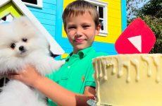 Den-Rozhdeniya-kanala-Mister-Max-4-goda-Funny-puppy-Gucci-Birthday-gift-for-kids-party