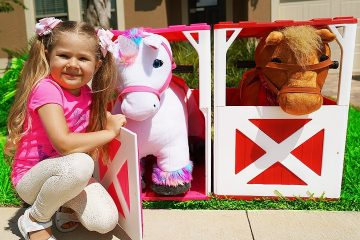 Diana-and-Roma-Pretend-Play-with-ride-on-Horse-Toy