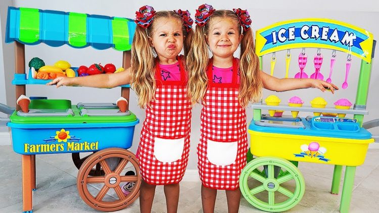 Diana-playing-with-Ice-Cream-toys-a-fun-story-for-kids-about-twins