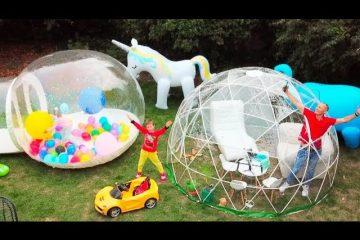Maks-i-papa-postroili-novyj-igrovoj-domik-dlya-detej-Max-and-papa-build-new-play-house-for-kids