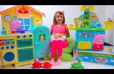 Mommy-PIG-ili-rutina-mamy-svinki-ot-Kati-dlya-detej-Kids-pretend-play-in-pig-family-and-cafe