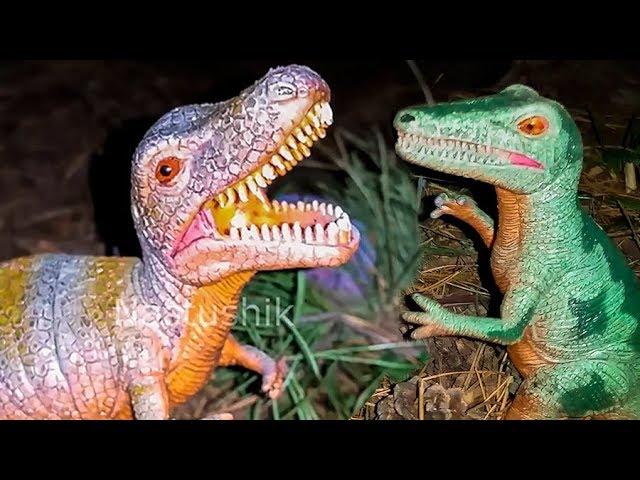 NASTYA-I-DINOZAVRY-Multfilm-Nastya-igraet-s-dinozavrami-v-lesu-Nabor-dinozavrov-Igrushki-gigantskie