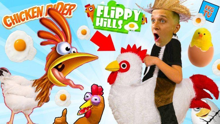 SUMASSHEDSHIJ-ZABEG-KURITSY-Smeshnaya-igra-ot-PAPY-FFGTV-Chicken-Rider-Video-dlya-detej-for-Kids