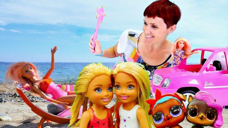 Barbi-i-Lol-Pets-edut-na-Plyazh-Video-dlya-devochek