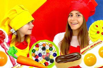Barbi-v-Plej-Do-Kafe-keksy-i-myaso-iz-Play-Doh