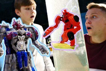 Transformery-v-Innoparke-Megatron-vs-Optimus-Prajm-Video-dlya-detej