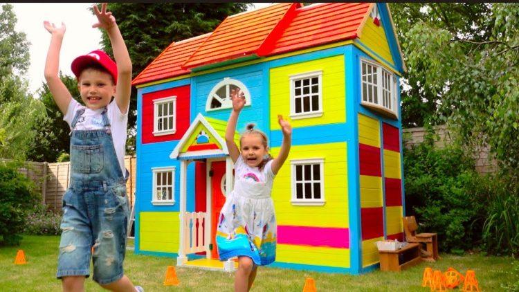 DIY-2-etazhnyj-DOM-4-komnatnyj-dlya-detej-i-RUM-TUR-ili-Pretend-Play-in-DIY-Playhouse-for-children