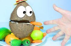 Mister-Kokos-s-Pesenkoj-pro-Palchiki-uchit-nazvaniya-ekzoticheskih-fruktov