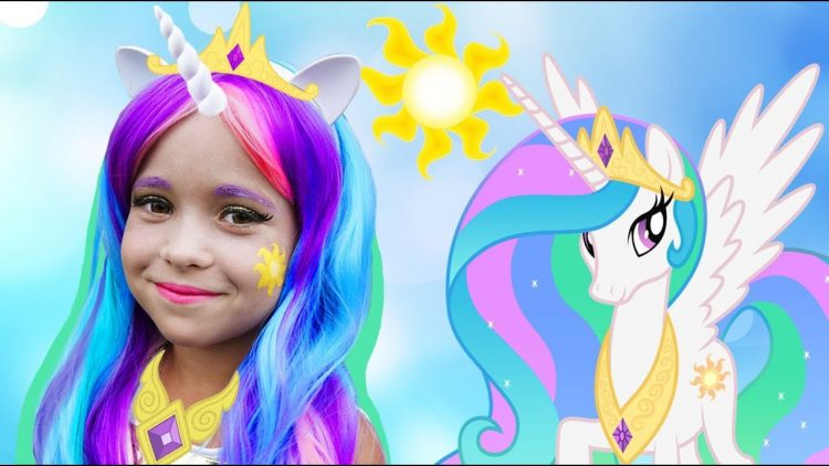 Sofiya-prevratilas-v-Printsessu-Sofia-DRESS-UP-Princess-Celestia-My-Little-Pony-and-Plays-Dolls