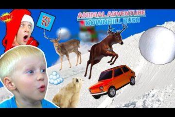SIMULYATOR-Kataniya-na-SANYAH-So-ZVERYAMI-v-igre-Animal-Adventure-Danya-i-Papa-na-FFGTV