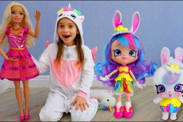 Sofiya-i-Novaya-Kukla-Barbi-Veseloe-video-dlya-detej-pro-igrushki-Sofia-New-Barbie-doll