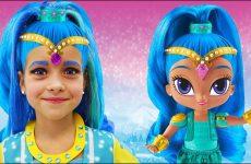 Sofiya-prevratilas-v-Kuklu-SHimmer-i-SHajn-Sofia-Dress-up-New-Make-Up-with-toys-Shimmer-and-Shine