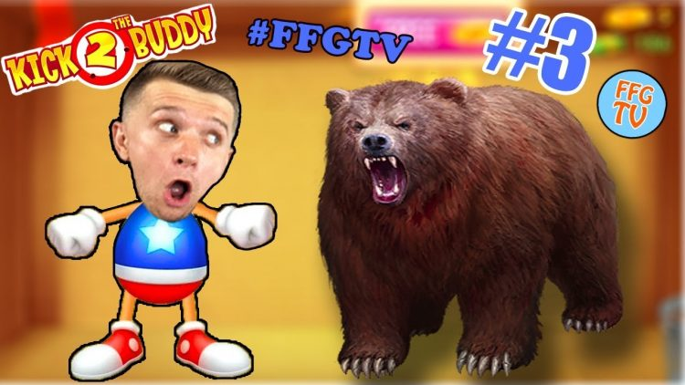 ANTISTERSS-protiv-MEDVEDYA-V-KOROBKE-3-Kick-the-Buddy-Forever-Milana-i-Papa-Igrayut-na-FFGTV