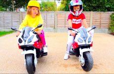 Deti-ustroili-gonki-na-mototsiklah