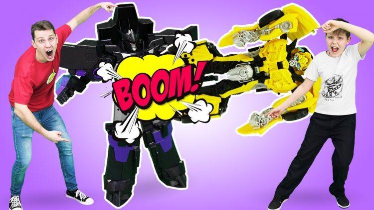 Igry-gonki-Transformerov-Bamblbi-protiv-Megatrona