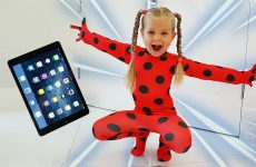 Diana-as-Ladybug-jumped-out-of-the-tablet