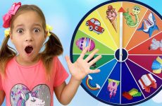 Sofia-and-a-Fun-children39s-game-with-a-Magic-wheel