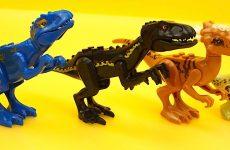 Dinozavry-igrushki-konstruktor-dlya-detei-.-Sobiraem-dinozavrikov