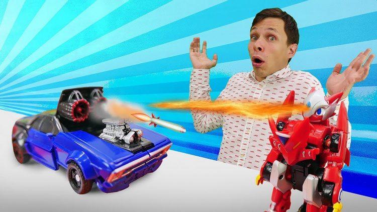 Igry-Transformery-Monkart-Draka-protiv-Deseptikona-Video-s-mashinkami-v-Avtomasterskoj