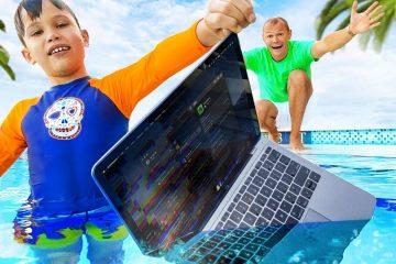 Maks-iskupal-papin-MacBook-Pro-v-vode