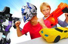 Roboty-Transformery-i-blastery-Nerf-Bamblbi-protiv-Megatrona-Igry-strelyalki-dlya-malchikov