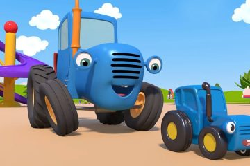 Sinij-Traktor-Spokojnaya-igra-Igrushki-Multiki-pro-mashinki-dlya-detej
