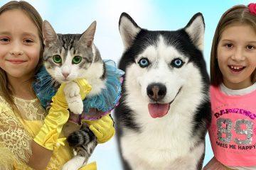 Sofiya-i-Vika-pomenyalis-svoimi-pitomtsami-Sofia-and-Vika-exchanged-dog-and-cat-pets