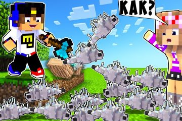 Majnkraft-no-kogda-lomaesh-blok-spavnitsya-cheshujnitsa-kak-projti-NUB-I-PRO-VIDEO-MINECRAFT