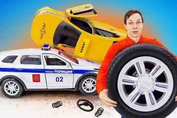 Video-dlya-malchikov-CHinim-Politsejskuyu-mashinu-v-Avtomasterskoj-Novye-igry-onlajn