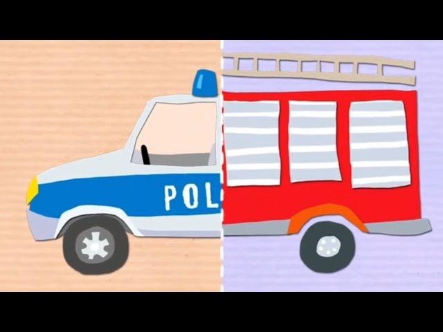 Multiki-Mashinki-dlya-detej-Multik-pazl-Politsejskaya-Pozharnaya-mashina-u-VIDEO-dlya-detej-Multfilmy