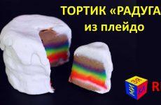 Lepim-tortik-iz-plastilina-Plej-Do.-Kak-sdelat-RADUZHNYJ-TORTIK.-Razvivayushhee-video-dlya-detej