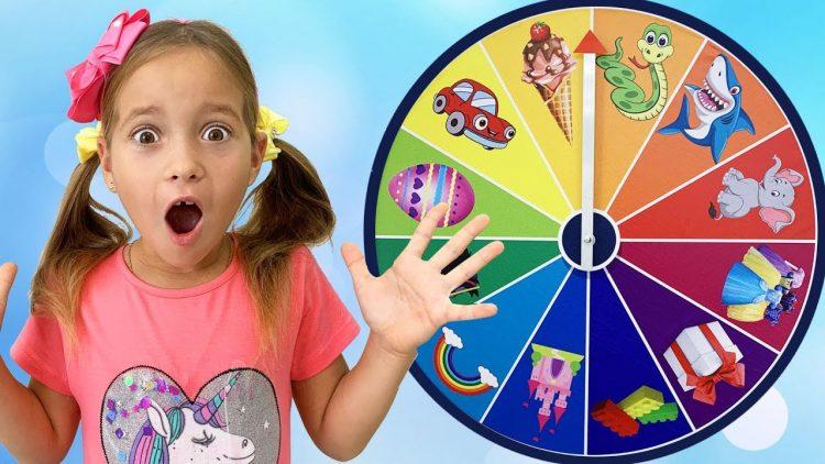 Sofia-and-a-Fun-children39s-game-with-a-Magic-wheel