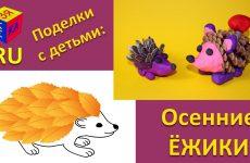 YOzhik-iz-listev.-YOzhiki-iz-shishki-semechek-i-plastilina.-Podelki-iz-prirodnyh-materialov.-Umelye-ruchki