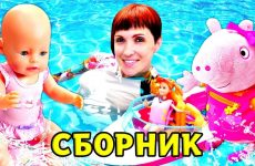 Bebi-Annabel-i-Masha-Kapuki-v-bassejne-Sbornik-Bebi-Bon-Video-dlya-devochek